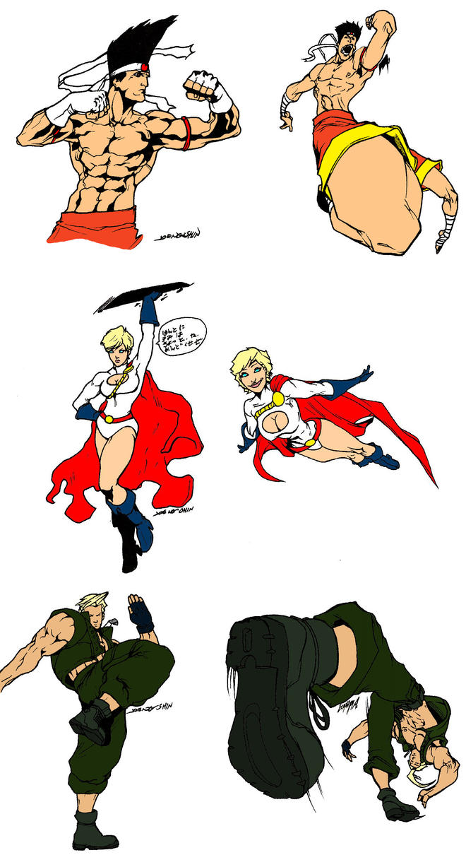 King of  Fighters Power girl by skyuuketsuki