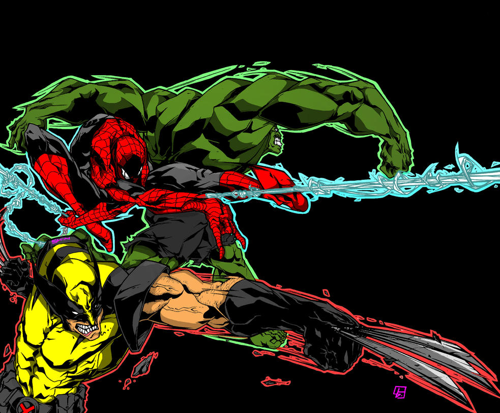 Marvelmania: Logan, Parker , Banner by skyuuketsuki