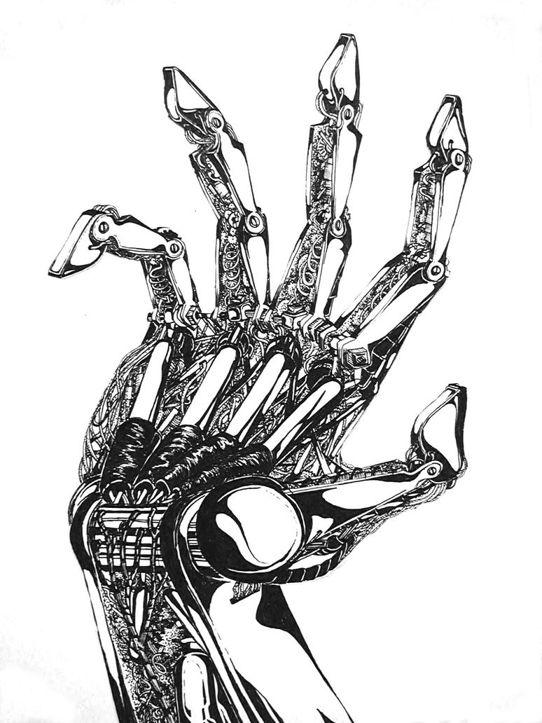 Mechanical hand art - photo#2