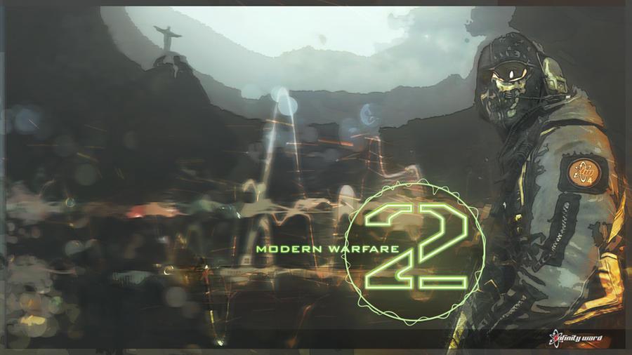 Ghost MW2 Wallpaper By DarkxPunkxWolf