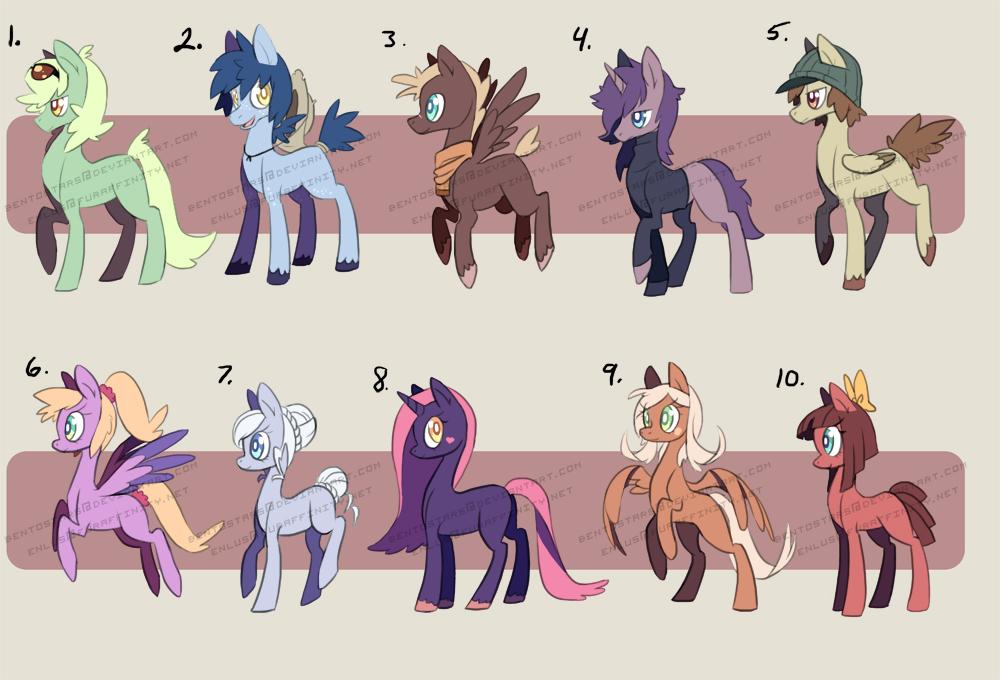 $10 Flat Sale Ponies! by BentoStars