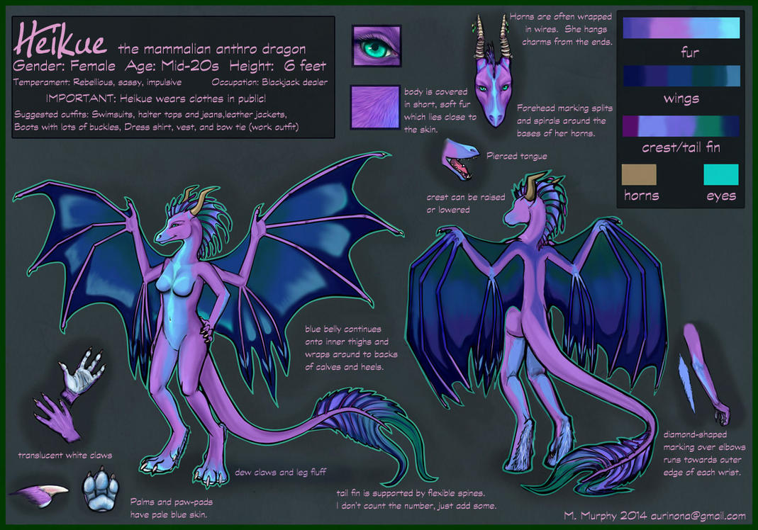 Heikue Reference Sheet by Aurinona