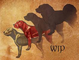 mastiff orthographic WIP by nekonotaishou