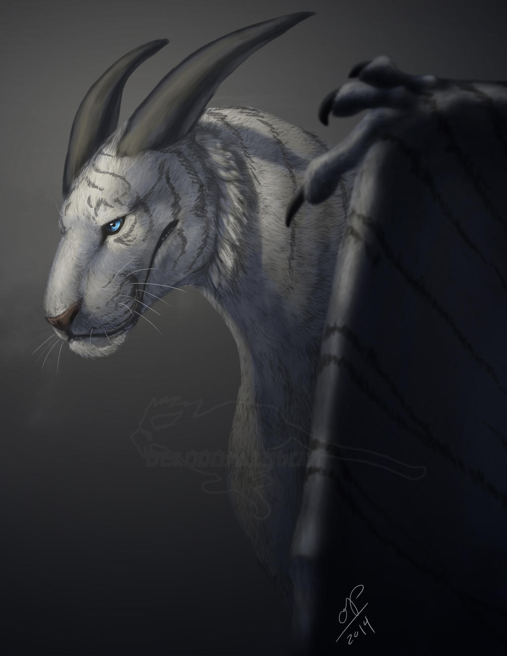 White Tiger-Dragon Portrait by nekonotaishou on DeviantArt