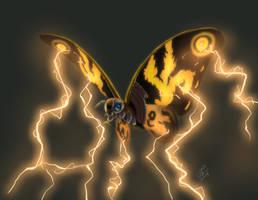 Mothra by nekonotaishou