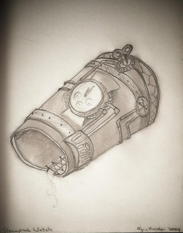 Steampunk Watch Design by Poseidonadventurer
