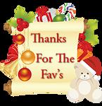Thanks for the Favs Christmas