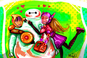 Baymax gets all the ladies by MaeMacabre