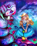 Alice and the Caterpillar -Commission-