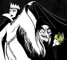 Queen Grimhilde - Inktober by MaeMacabre