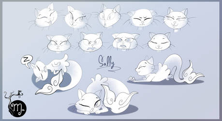 Sally the Mermaid Cat - expressions