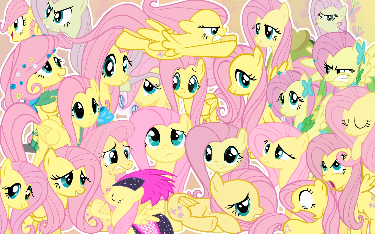 so many fluttershy wallpaper by candyutame on deviantart