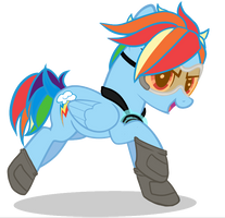 Rainbow Dash Tracer: My Little Pony/Overwatch by Bolties