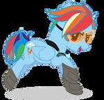 Rainbow Dash Tracer: My Little Pony/Overwatch