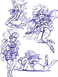 Dragon Half sketches