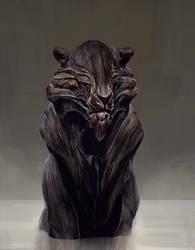 Lion carving