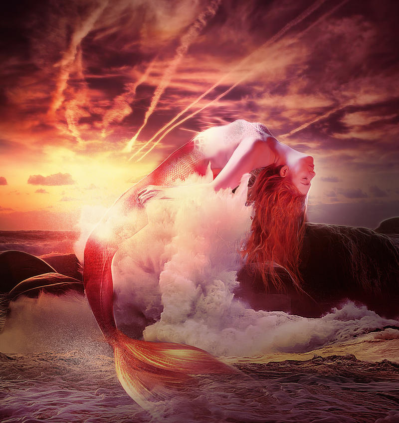 Burning sea by LuLebel