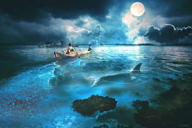 Sea Lights by LuLebel
