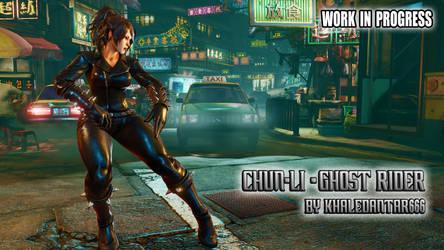 W.I.P: CHUN-LI - GHOST RIDER by Khaledantar666