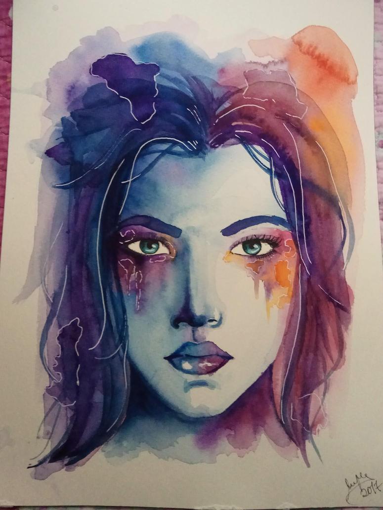 Abstract Portrait |SPEEDPAINT in the description by MarinaPlazaG