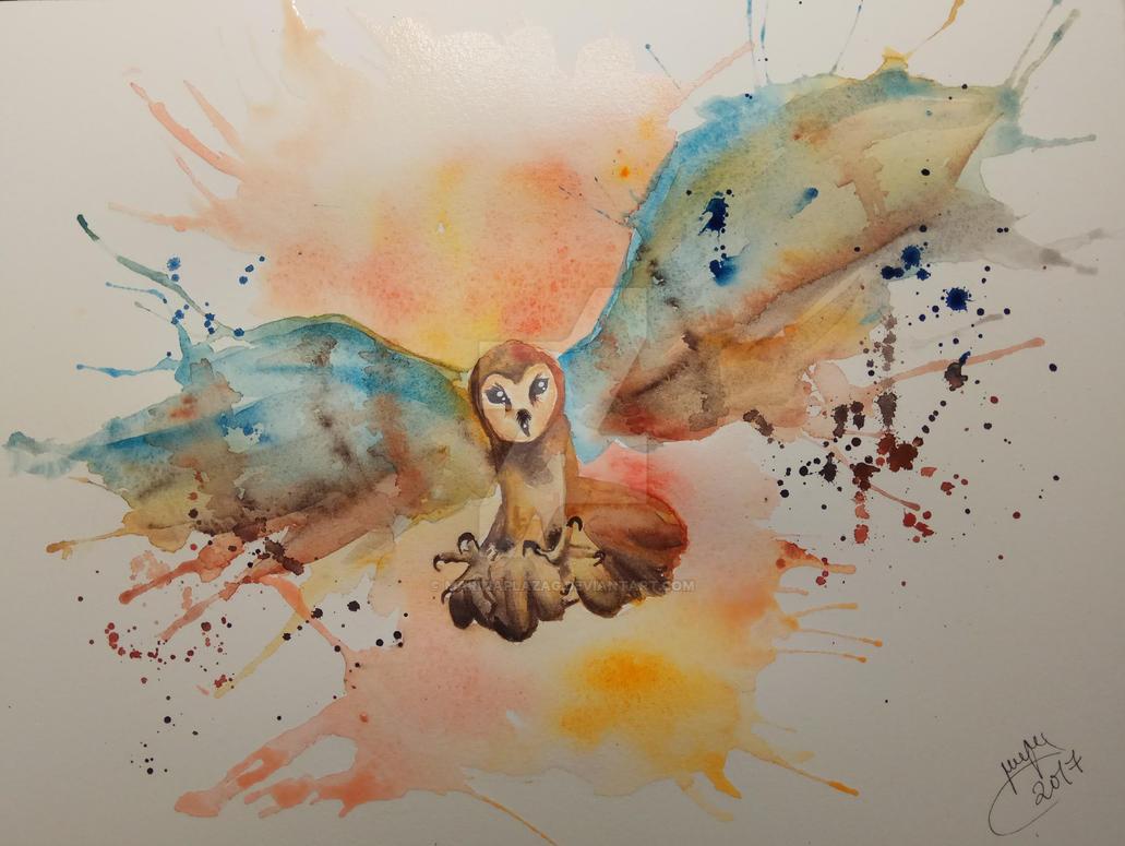 Barn Owl | SPEEDPAINT in the description by MarinaPlazaG