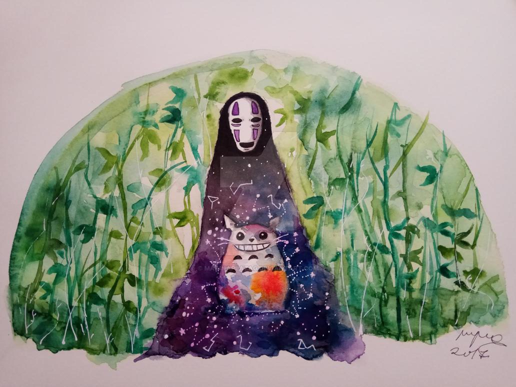 No-Face |Spirited Away | Speedpaint by MarinaPlazaG