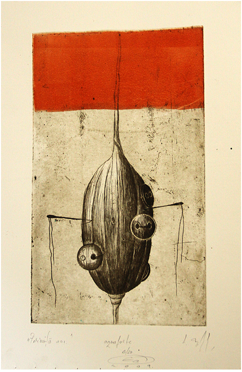 saculet de ace II Etching by rawgreens