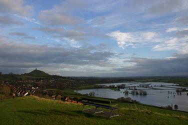 Glastonbury and  Moors by Alex88M