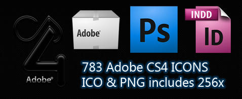 Adobe CS4 Icon Pack PNG ICO