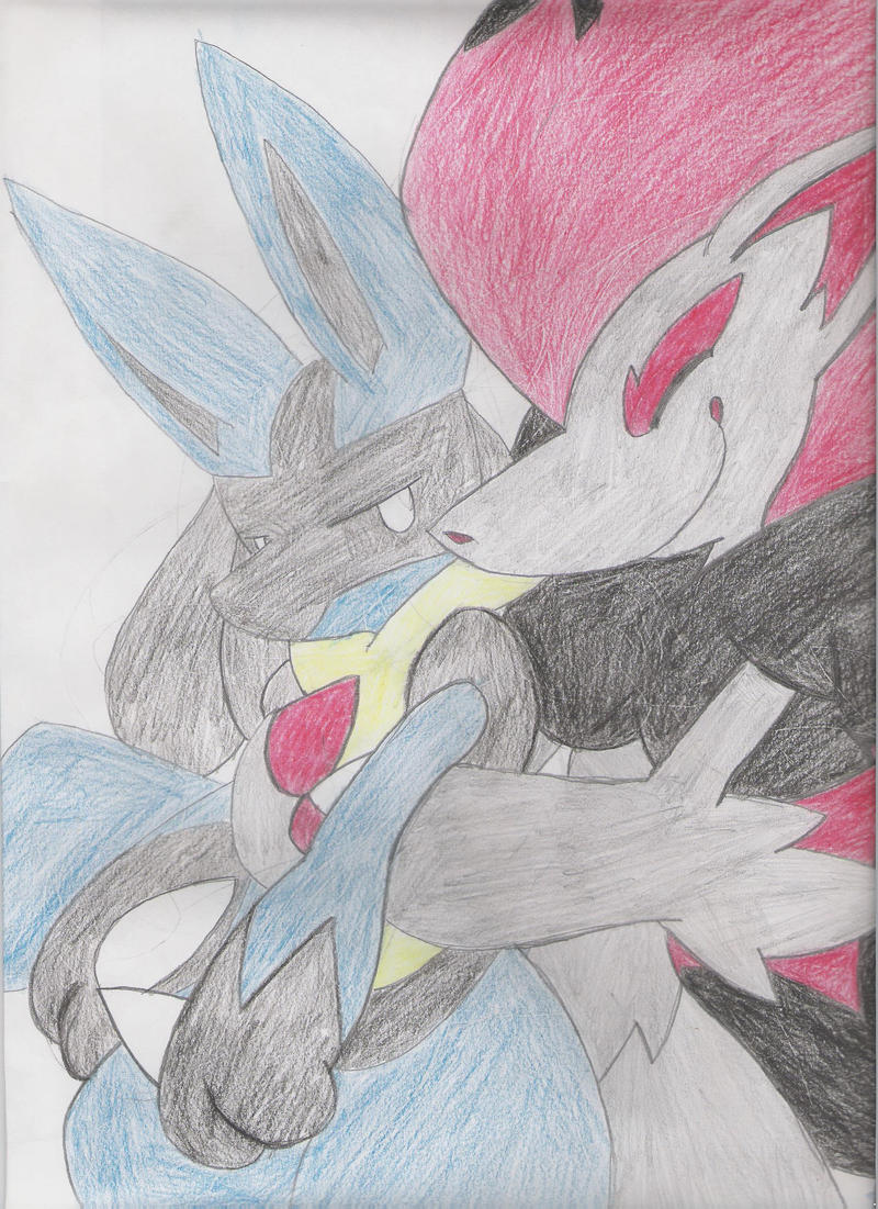 Zoroark and Lucario by LuisMcDerp on DeviantArt