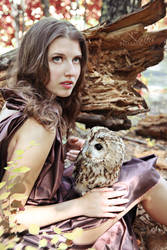 A girl and the owl by deviappareil