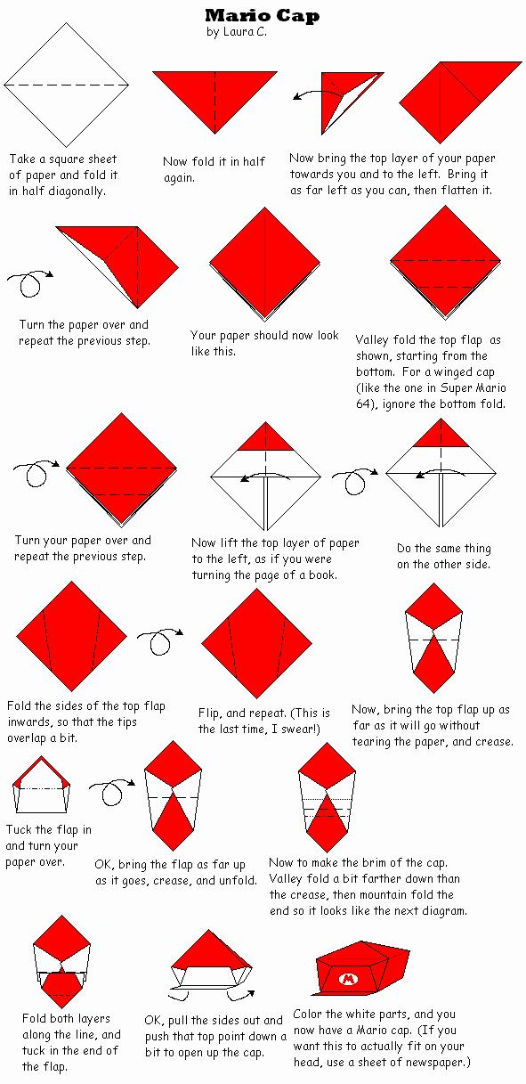 Origami Baseball Cap Instructionsorigami Baseball Cap Instructions