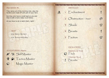 Adventure booklet Page spread