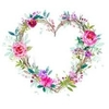 Icon - Floral Heart Wreath by fmr1
