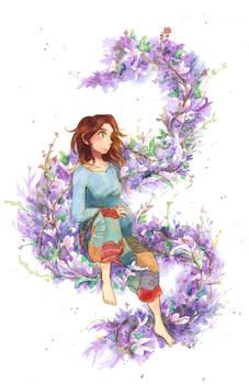 Flowered pregnancy