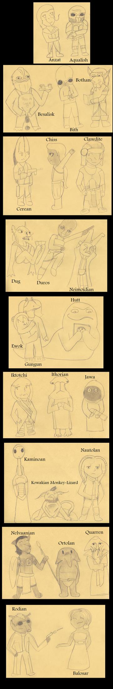 Epic Star Wars Species Challenge by ElyssaJM