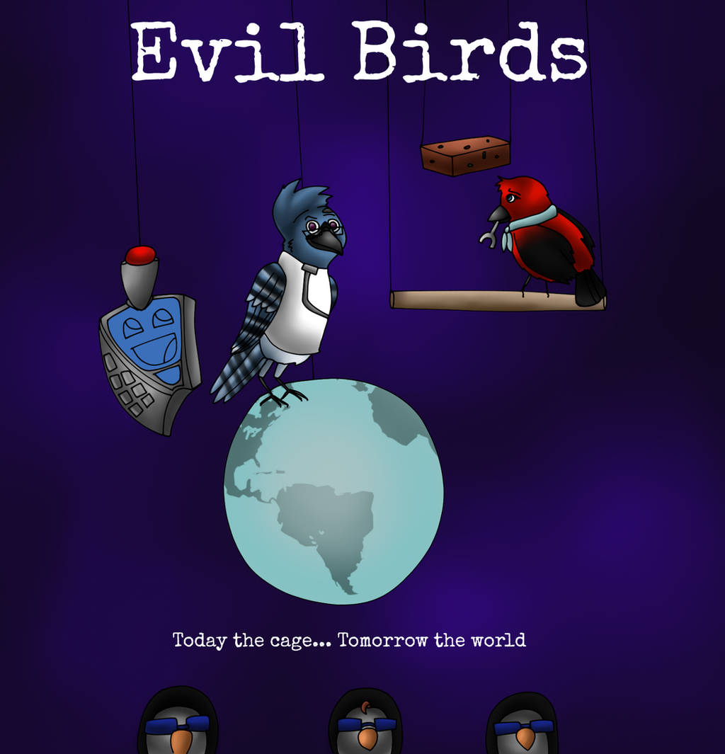 Evil Birds by ElyssaJM