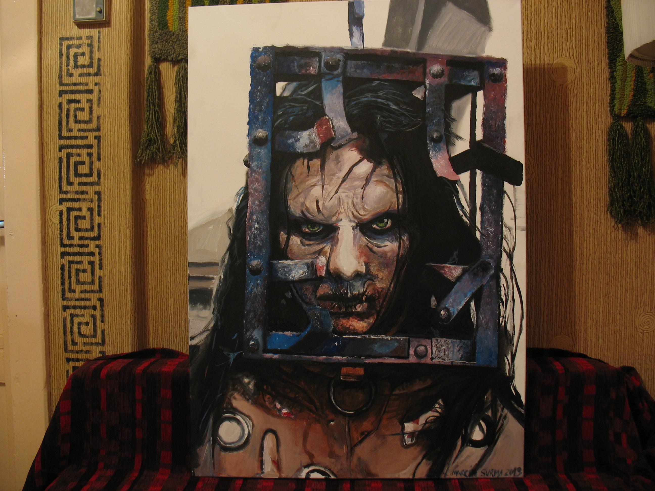 Jackal (13 Ghosts) Painting 100/70cm by MarcinSurma on DeviantArt Thir13en Ghosts Jackal