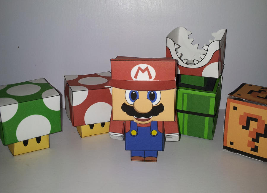 super mario cubeecraft by divinusvento on deviantart