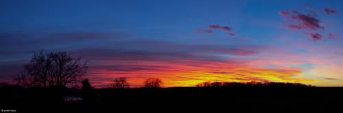 Sunset panorama by andika0