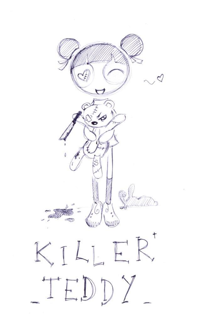 Killer Teddy Bear by g-puck on deviantART
