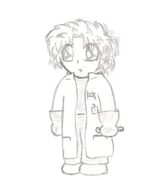 Chibi Scientist by Gray-Fox11