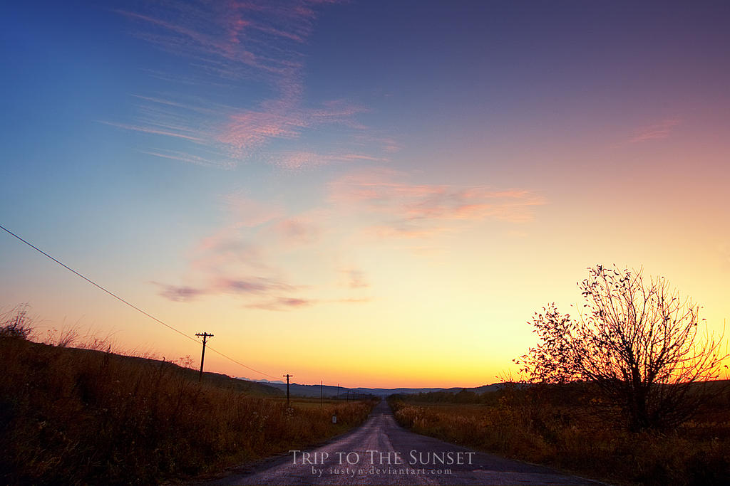 Une nouvelle qui (n')a sa place ici et/ou ailleurs - Page 6 Trip_to_the_Sunset_by_iustyn