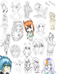 Sketch dump 2 by darksoulobsession