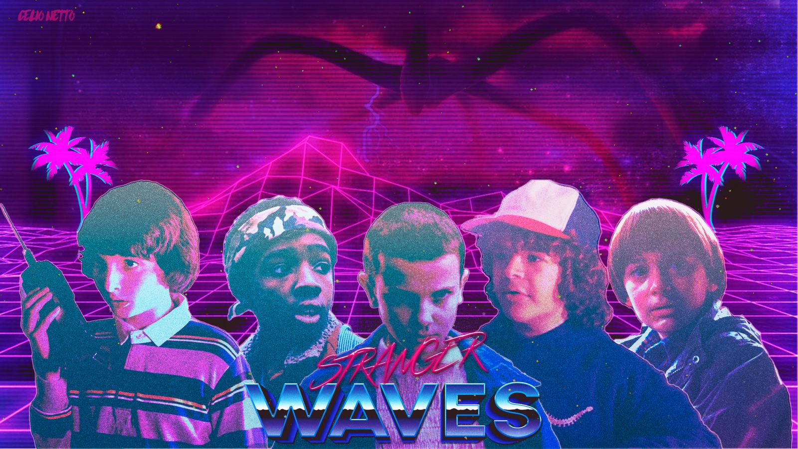 Stranger Waves - 80's Retro Wave Wallpaper Style by nktetas