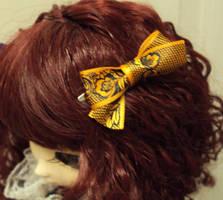 Orange Lace bow by Lovekeysan