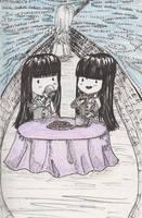 Twin Tea Party Request by Lovekeysan