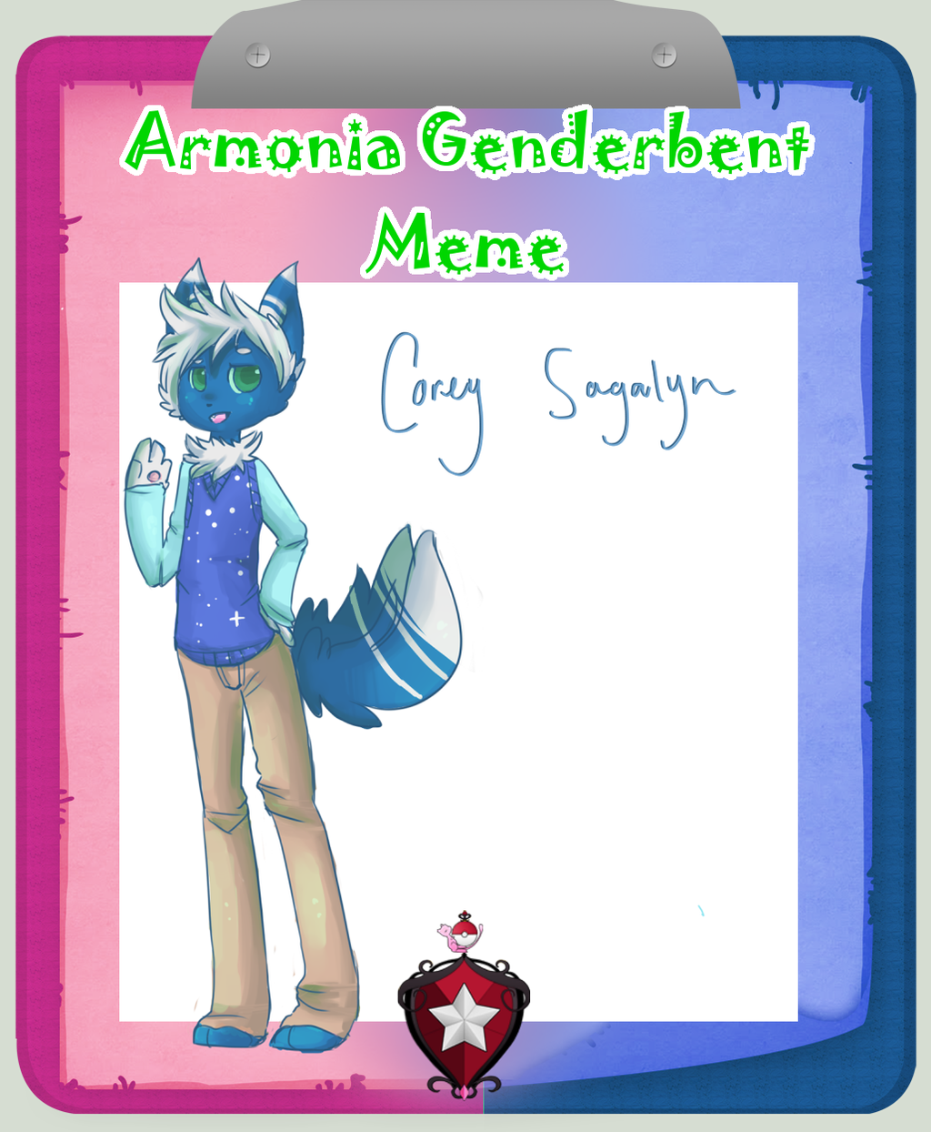 Armonia:: Coralie genderbent by fancyfur