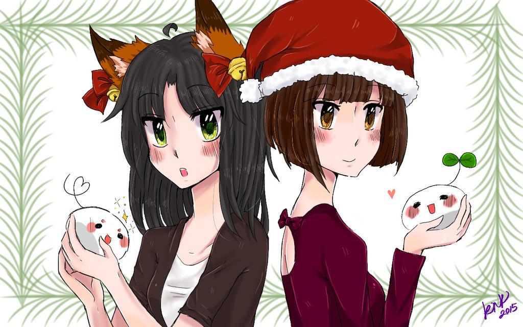 Christmas Doodle :) by KitsuneNo-Kimi