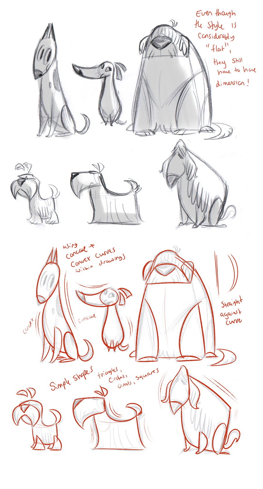 Character Design Using Shapes : Dog drawing tutorial on pinterest how to draw anime